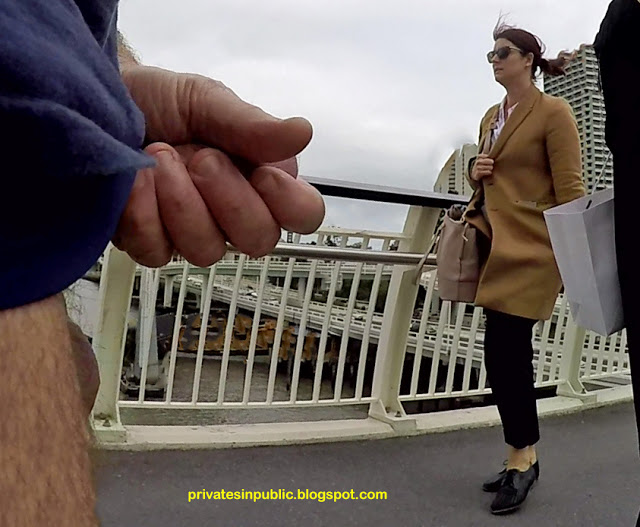 Public erection flasher masturbation on the street – daring wank in front of passersby!