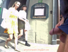 Public erection flasher exhibitionist dickflash on the street – Restaurant sidewalk erecti ...