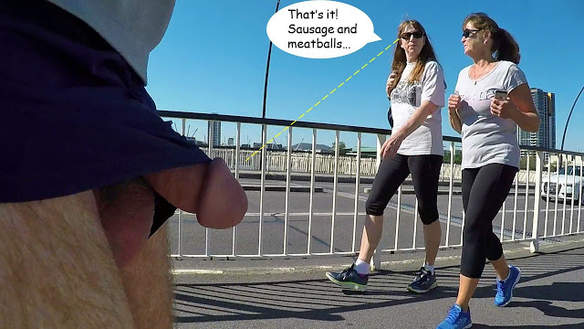 Public flasher erection exhibitionist comic sequence – A Street Flasher Reminds Her of Her ...