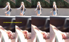Public Erection Masturbation Carflash Exhibitionist – a cute blond girl in sunglasses take ...
