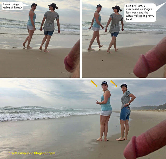 Public erection flasher exhibitionist CFNM funny comic – Hard times at home