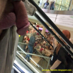 Public erection flasher exhibitionist dickflash in shopping center.