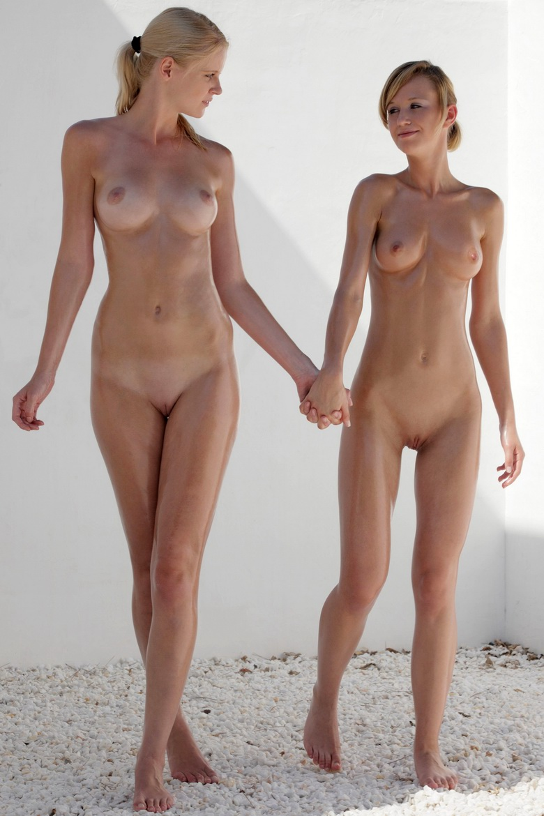 Young oiled perfect models