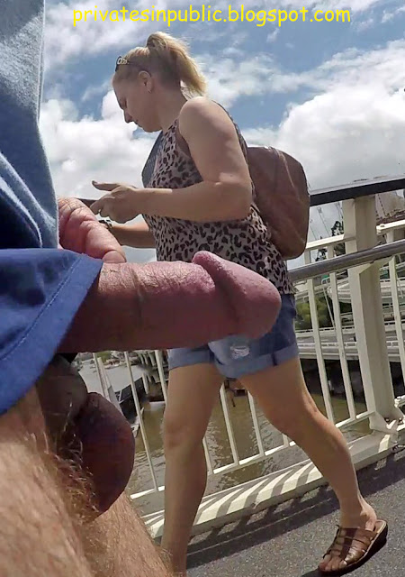 Public erection flasher dickflash exhibitionist on the street – Dick and balls out on the  ...