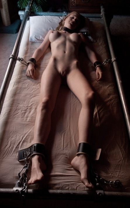 Tied and helpless babe