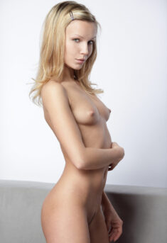 Blonde beauty model