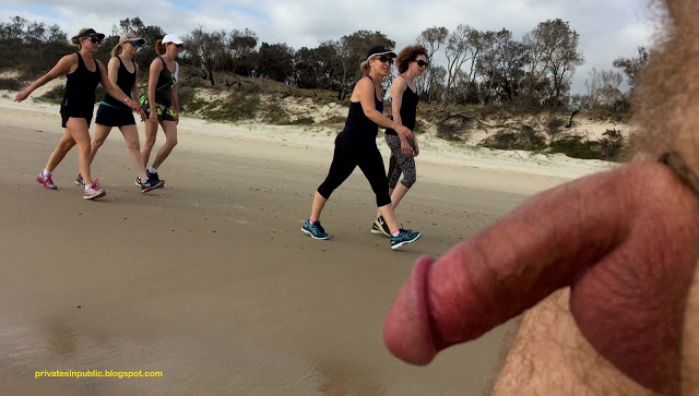 Public erection flasher exhibitionist dickflash exhibitionist CFNM on the beach – Fun for  ...