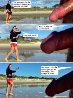 Public erection flasher exhibitionist CFNM funny comic- thank you for your service