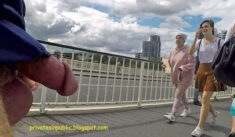 Public erection flasher exhibitionist cock – a street dickflash gets noticed