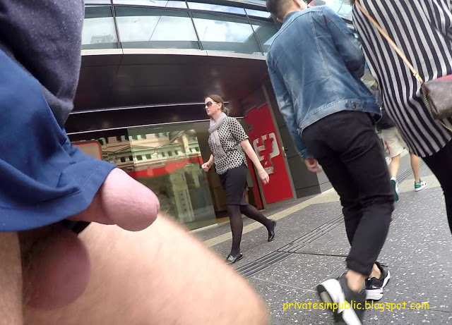 Public Erection Dickflash Exhibitionist Flasher on the Street – getting it out on the mall