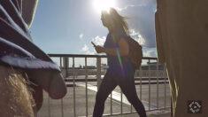 Public erection dickflash exhibitionist flasher out in the open on a sunny day – nonchalan ...