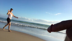 Public erection flasher exhibitionist CFNM dickflash on the beach video clip – She's ...